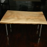 $375 Red Maple Top Slab with sched.40 legs and rubber feet